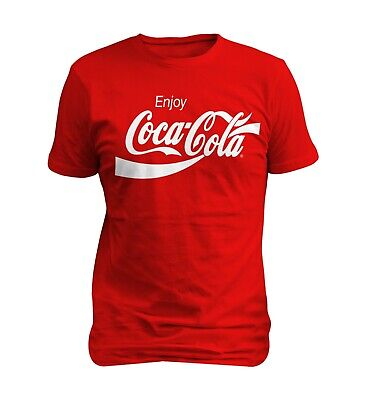 Coca Cola Enjoy Logo Red Men T-shirt