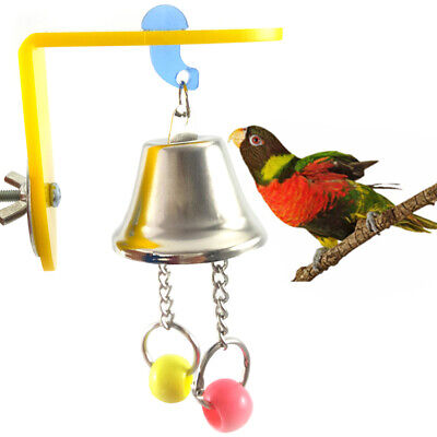 Bird Parrot Toy Chew Toys Large Pet Bells Cage Bell Swing Hanging Bell Toys 6H