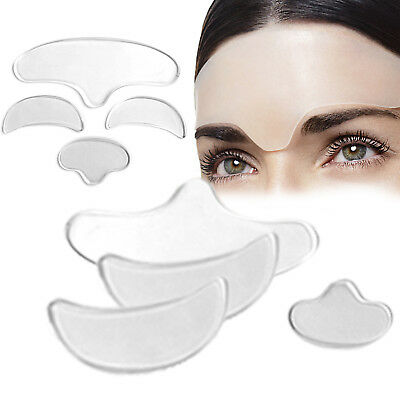 Reusable face forehead nasolabial anti wrinkle silicone skin care soft pads J_WK
