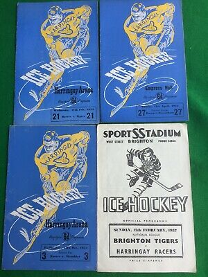 Ice Hockey programmes Harringay x 3 Brighton x 1