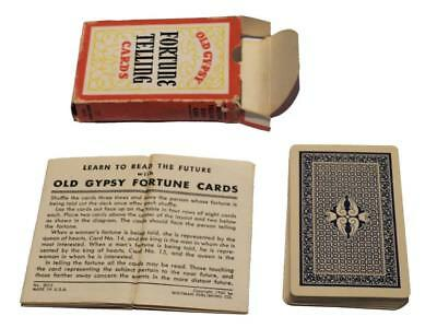 """Vintage 1940 Whitman """"Old Gypsy"""" Fortune Telling Cards Tarot Deck!"""