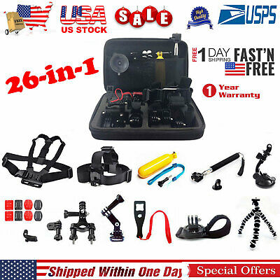 Accessories Kit Bundle Mount for Gopro go pro hero 5 4 3 2 1 Session Mount Combo