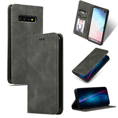 For Samsung Galaxy S10 Plus S10e Leather Luxury Flip Wallet Card Slot Case Cover