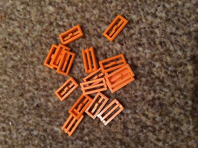 10 x Lego Grill Brick 2x1 RED Flat Piece Bar Part *CHEAPEST ON *