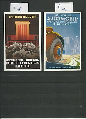DR 2 Ganzsachen,Internationale Automobil-Austellung 1938/1939.