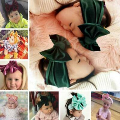 Toddler Girls Baby Big Bow Hairband Headband Stretch Turban Knot Head Wraps