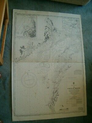 Vintage Admiralty Chart 1346 UK - SOLWAY FIRTH 1938 edn