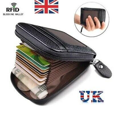 Anti-theft Tactical Wallet RFID Blocking Wallet Purse Money Cash Holder UK
