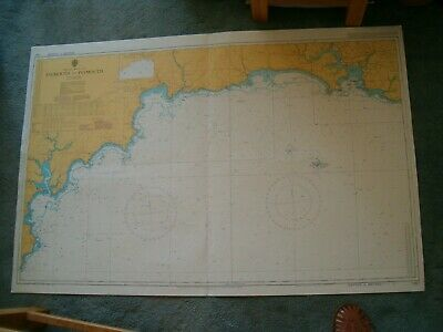 Vintage Admiralty Chart 1267 UK - FALMOUTH to PLYMOUTH 1984 edn