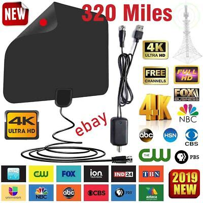 320 Mile Range Antenna TV Digital Skywire 4K Antena HDTV 1080p Amplifier HDTV US
