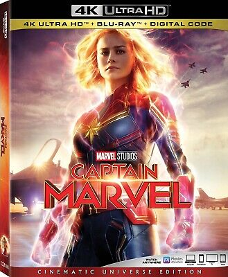 Captain Marvel (4K UHD & Blu-ray discs, 2019) Pre-order *NO DIGITAL CODE*