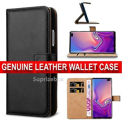 Case for Samsung Galaxy S10 S10e Plus Luxury Genuine Leather Wallet Stand Cover