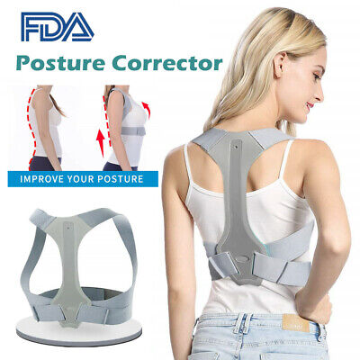 Posture Corrector Adjustable Medical Clavicle Back Support Brace Body Relief FDA