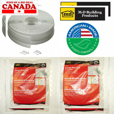 M-D Building Products 3822 Vinyl Garage Door Top and Sides Seal, 30 Feet,...