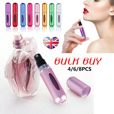 Perfume Atomiser Refillable Pump Aftershave Atomizer Mini Spray Travel Bottle UK