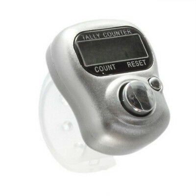Electronic Portable Counter Meter LCD Screen Tally Counter Finger Ring Clicker