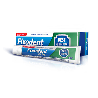 Fixodent Plus Dual Protection Best Antibacterial Denture Adhesive Cream 40g