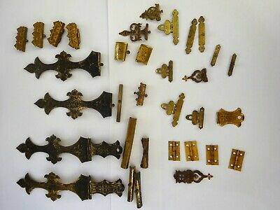 Quantity of Assorted Vintage Book / Clock / Box Brass Hinges