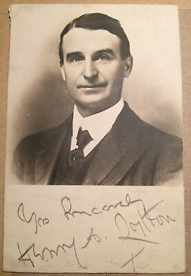 Sir Henry Lytton - D'Oyly Carte Opera Company - ink signature with photo