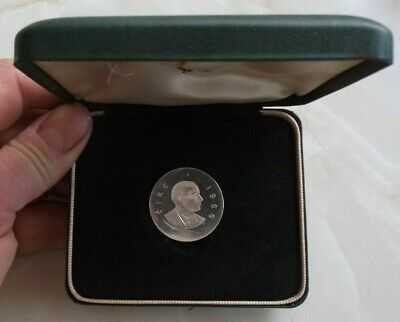 1966 Irish Proof Silver Ten Shilling Coin In Original Box. Eire. Ireland. Pearce