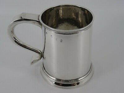 Very Rare Georgian George I Solid Sterling Silver Plain Tankard Mug London 1717