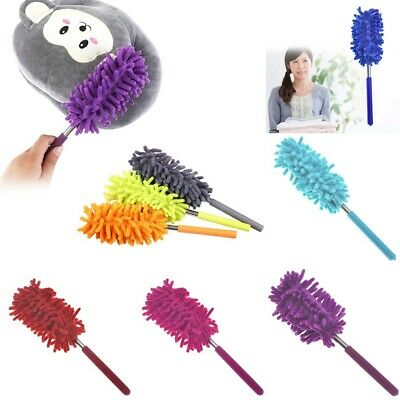 Telescopic Duster Extendable Microfiber Dust Cleaner Handle Home Car Cleaning