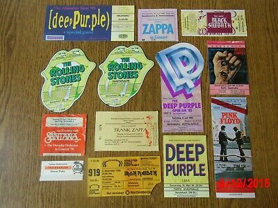 SAMMLUNG ! Tickets Eintrittskarten Black Sabbath Deep Purple Pink Floyd Stones..