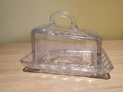 Vintage Retro Glass Butter Cheese Dish