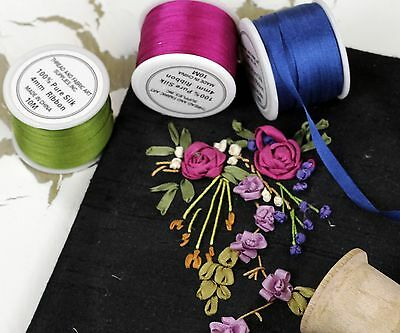 Pure Silk Ribbon 13Mm -  Several Color Options - Threadart