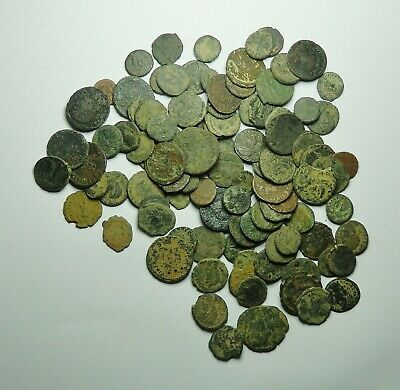 100 Small As Found Low Grade Roman Bronze Coins (724K)