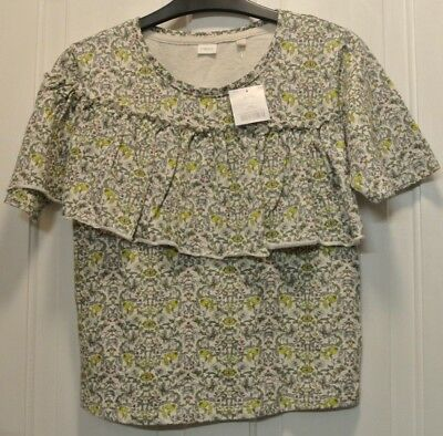 New Next girls 100%cotton top  green/grey age 12 years