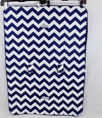 Carseat Canopy Royal Blue Chevron Carseat Cover