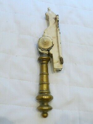 Antique19th Century Large French Chateau Brass Lever Lock Door Handle On bracket