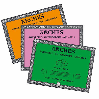 Arches Professional  High Quality Watercolour Paper Blocks 300gsm 26 x 36 cm