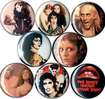 Rocky Horror Picture Show pins buttons Dr Fank N Furter Riff Raff Janet Magenta
