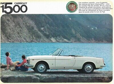 """FIAT """"1500"""" Cabriolet by PininFarina - 1966 - French sales catalogue, brochure"""