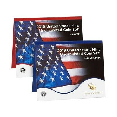 """2019 US Mint Uncirculated 20-Coin Set Comm. (w/o Lincoln """"W"""" Uncirculated Penny)"""