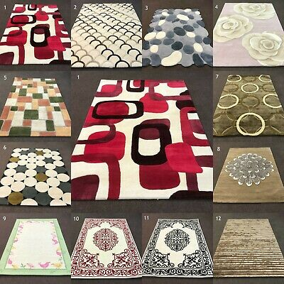 New Pure Wool Thick Warehouse Clearance Heavy Weight Indian Wool Rugs On Sale