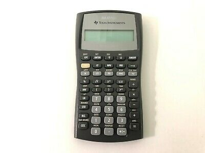 Texas Instruments BA II Plus Financial Calculator - Tested Working -  No Cover