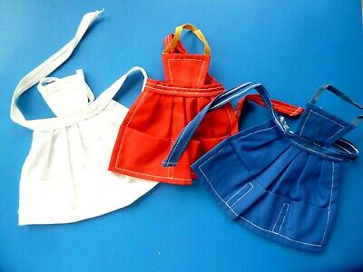 Vintage Barbie Lot Of Aprons (White, Red & Blue) From 1960'S