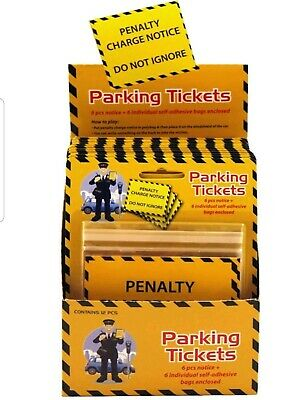 Fake Parking Tickets Novelty Fun  6 pack 6 pouches