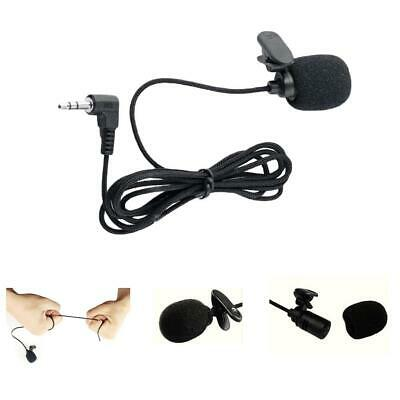 Hands Free Clip On Lapel Microphone Wired Condenser Mini Lavalier Mic 3.5mm