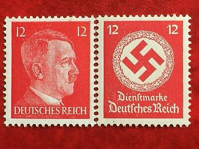 Germany RARE NAZI STAMP WW2 WWII WK2 Head Dictator Adolf Hitler Swastica #12 red