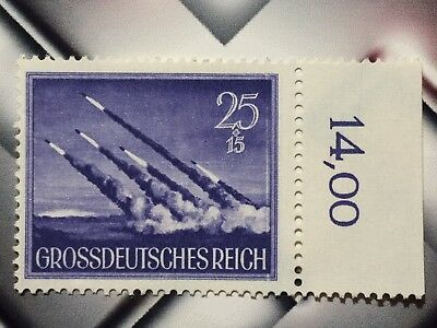 Germany RARE NAZI WWII WW2 stamp Hitler's Secret Weapon rocket attack on GB MNH