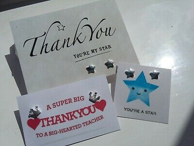 Earrings Thank you Teacher Thankyou Star Exam encouragement congratulations