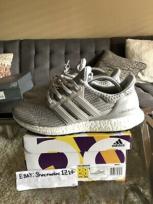 info for 5c631 ad8cc Adidas Ultra Boost 4.0 Men 9.5 Grey Cloud White Running Shoes BB6167  Solebox Got