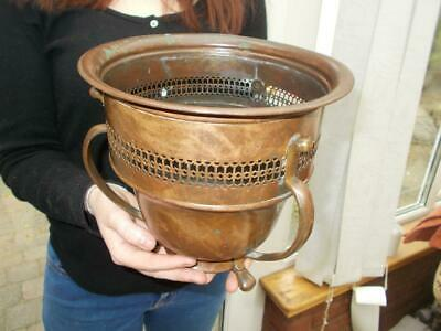 "Antique ""British Made"" Copper & Brass Arts & Crafts Jardiniere Pot Soutterware"