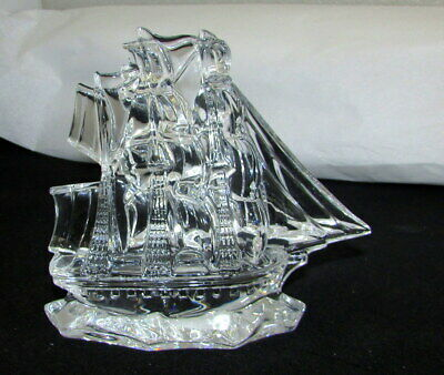 Waterford Crystal Tall Ship Sculpture Figurine 107798