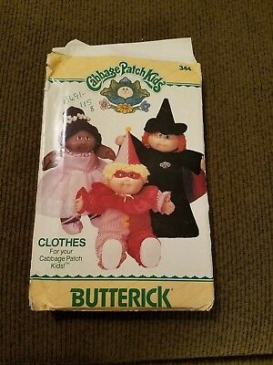 Vintage Butterick Cabbage Patch Kids Doll uncutpatern.Halloween outfit w/iron on