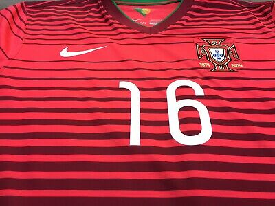new style 74e22 74b64 RARE NIKE PORTUGAL National Team Home Kit 2014 Mens Large Soccer Jersey  MEIRELES